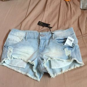 charlotte russe ripped jean shorts
